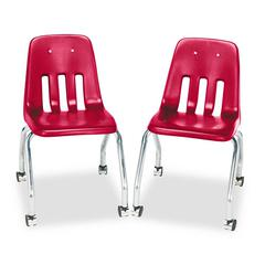 Standard Teacher's Chair, 18-5/8 x 21 x 30, Red, 2/Carton