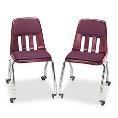Padded Teacher's Chair, 18-5/8 x 21 x 30, Wine