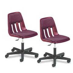 Virco Height-Adjustable Padded Teacher's Chair, 25 x 25 x 28-1/4–33-3/8, Wine