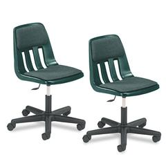 Virco Height-Adjustable Padded Teacher's Chair, 25w x 28-1/4 to 33-3/8h, Forest Green