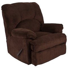 Contemporary Feel Good Chocolate Microfiber Rocker Recliner