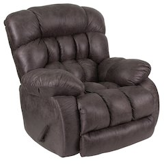 Contemporary Breathable Comfort Nevada Ash Fabric Rocker Recliner