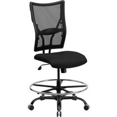 HERCULES Series Big & Tall 400 lb. Rated Black Mesh Drafting Chair