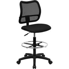 Mid-Back Black Mesh Drafting Chair