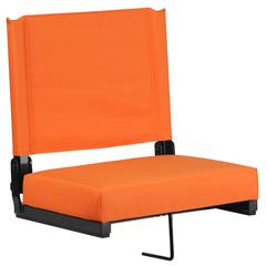 Grandstand Comfort Seats by Flash with Ultra-Padded Seat in Orange