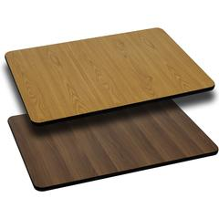 Flash Furniture 24'' x 30'' Rectangular Table Top with Natural or Walnut Reversible Laminate Top