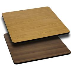 Flash Furniture 36'' Square Table Top with Natural or Walnut Reversible Laminate Top