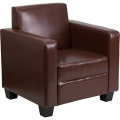 Flash Furniture Grand Series FedExable Brown Leather Chair