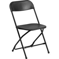 HERCULES Series 800 lb. Capacity Black Plastic Folding Chair