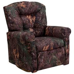 Flash Furniture Kids Camouflage Fabric Rocker Recliner