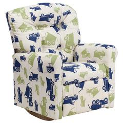 Flash Furniture Kids Dump Truck Printed Fabric Rocker Recliner