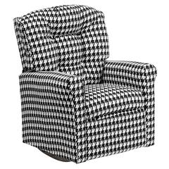Flash Furniture Kids Hounds Tooth Fabric Rocker Recliner