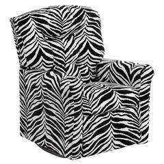 Flash Furniture Kids Zebra Print Microfiber Rocker Recliner