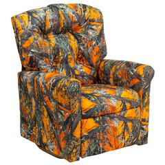 Flash Furniture Kids Orange Camouflage Fabric Rocker Recliner