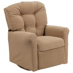 Kids Buff Microfiber Rocker Recliner