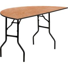 Flash Furniture 60'' Half-Round Wood Folding Banquet Table