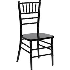 Flash Elegance Supreme Black Wood Chiavari Chair