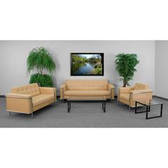 Flash Furniture HERCULES Lesley Series Reception Set in Light Brown