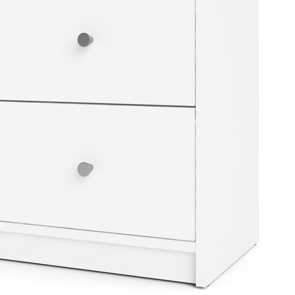 Portland 6 Drawer Double Dresser, White. Picture 8