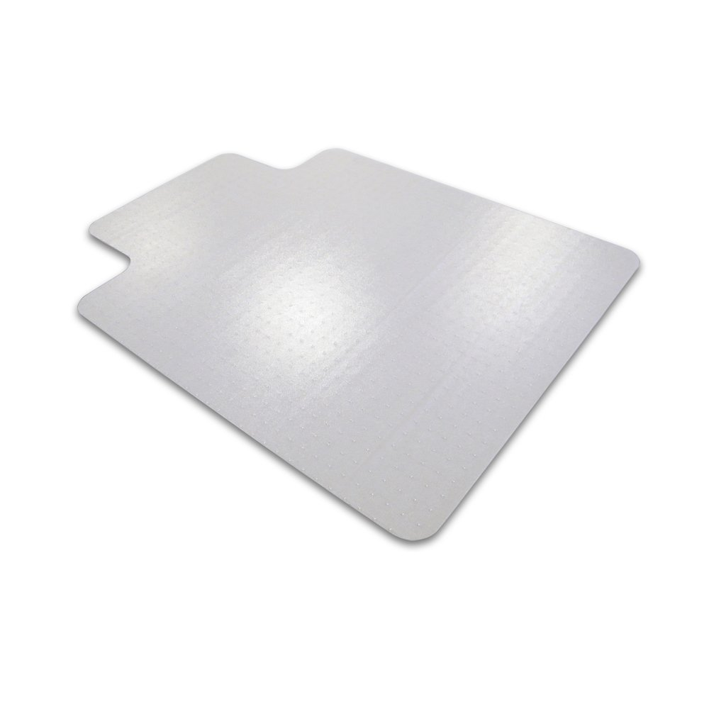 """Cleartex Advantagemat, PVC Clear Chair Mat, for plush pile carpets (over 3/4""""), Rectangular with Lip, Size 36"""" x 48"""". Picture 1"""