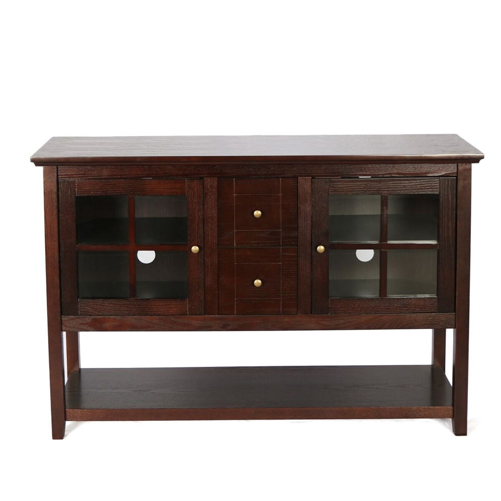 52 Quot Wood Console Table Tv Stand Espresso