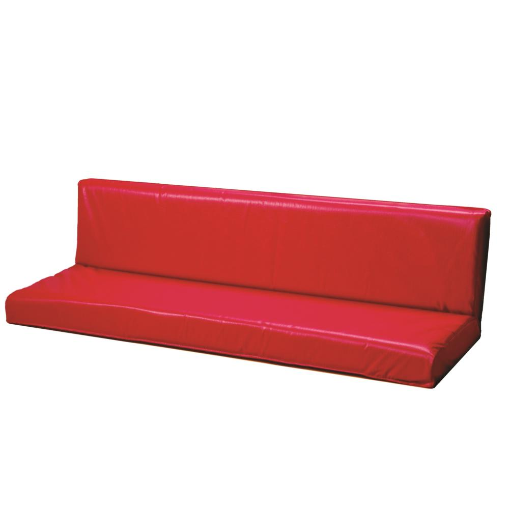Red Cushion Hinged Seat/Back Set. Picture 1