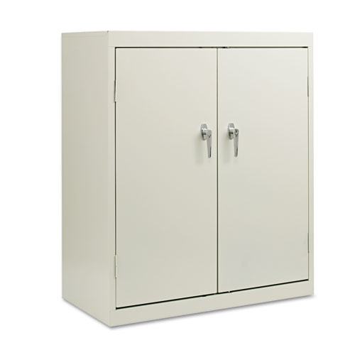 """Assembled 42"""" High Storage Cabinet, w/Adjustable Shelves, 36w x 18d, Light Gray. Picture 2"""