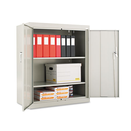 """Assembled 42"""" High Storage Cabinet, w/Adjustable Shelves, 36w x 18d, Light Gray. Picture 1"""