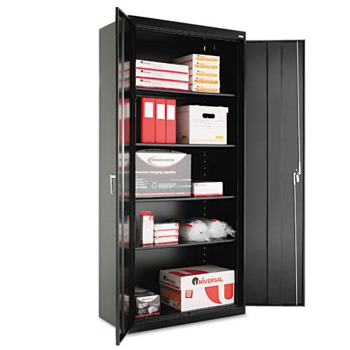 Assembled 78 high storage cabinet w adjustable shelves for Adjustable shelves for kitchen cabinets
