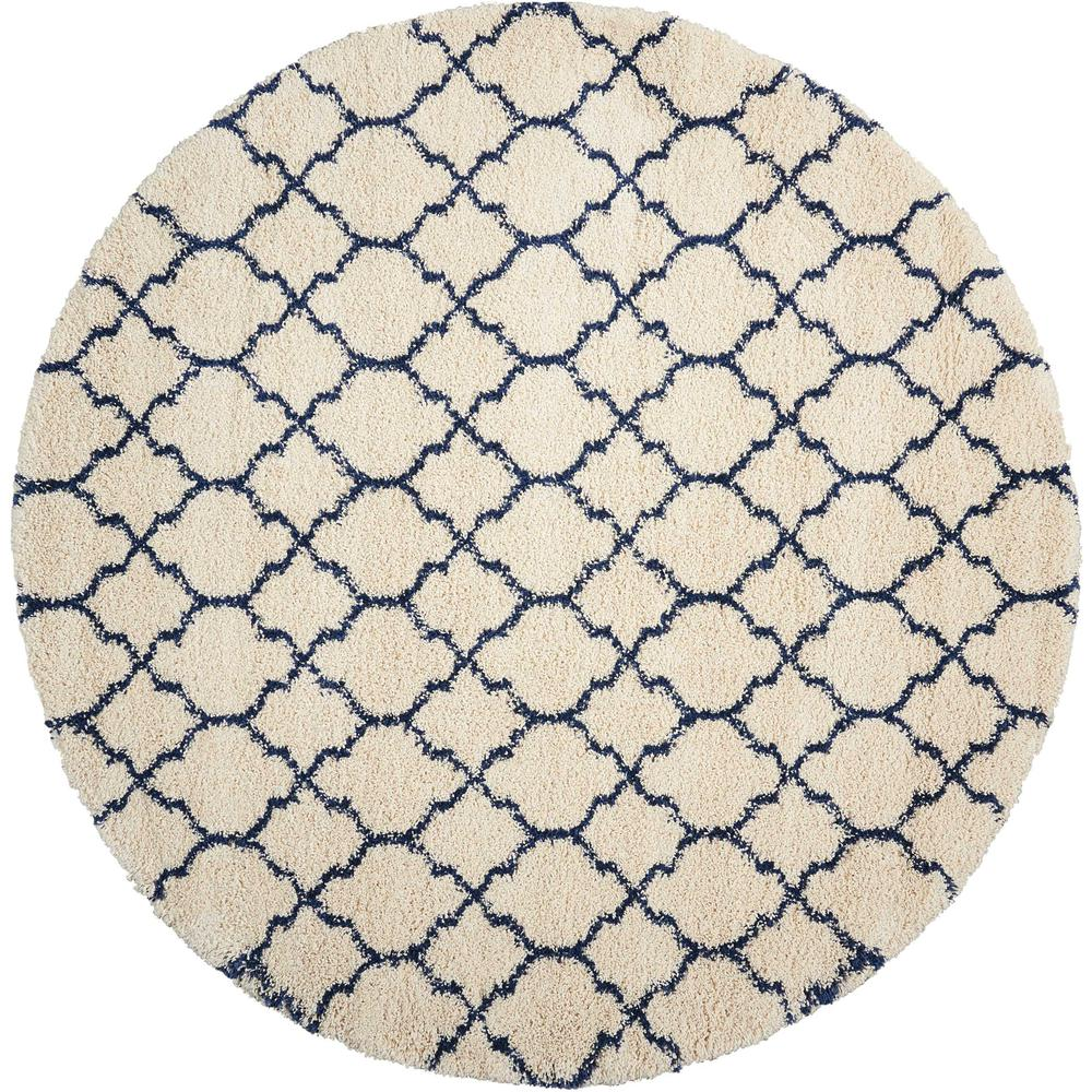 """Amore Area Rug, Ivory/Blue, 7'10"""" x ROUND. Picture 2"""