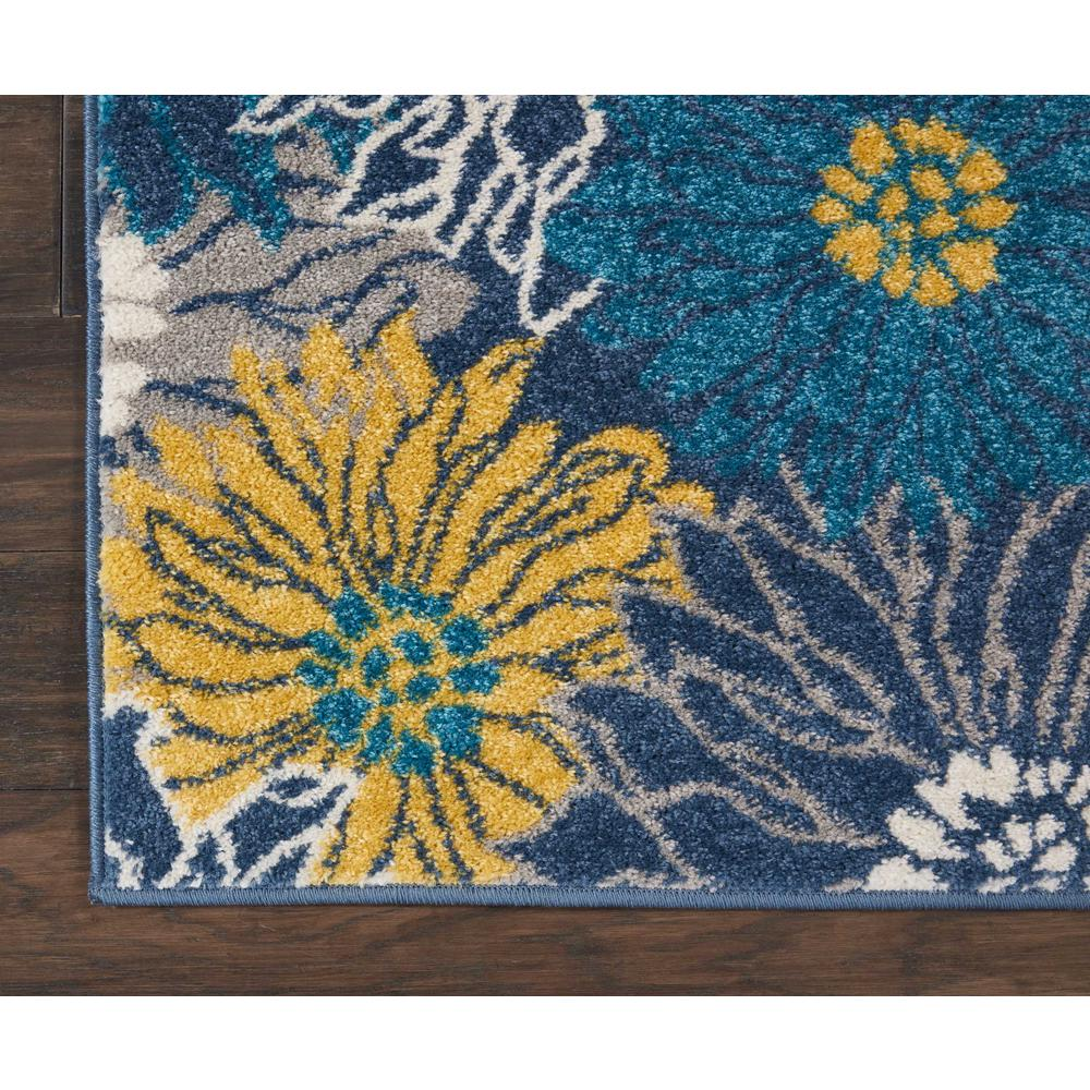 """Passion Area Rug, Blue, 1'10"""" x 6'. Picture 8"""