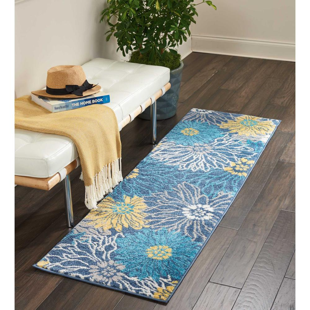 """Passion Area Rug, Blue, 1'10"""" x 6'. Picture 7"""