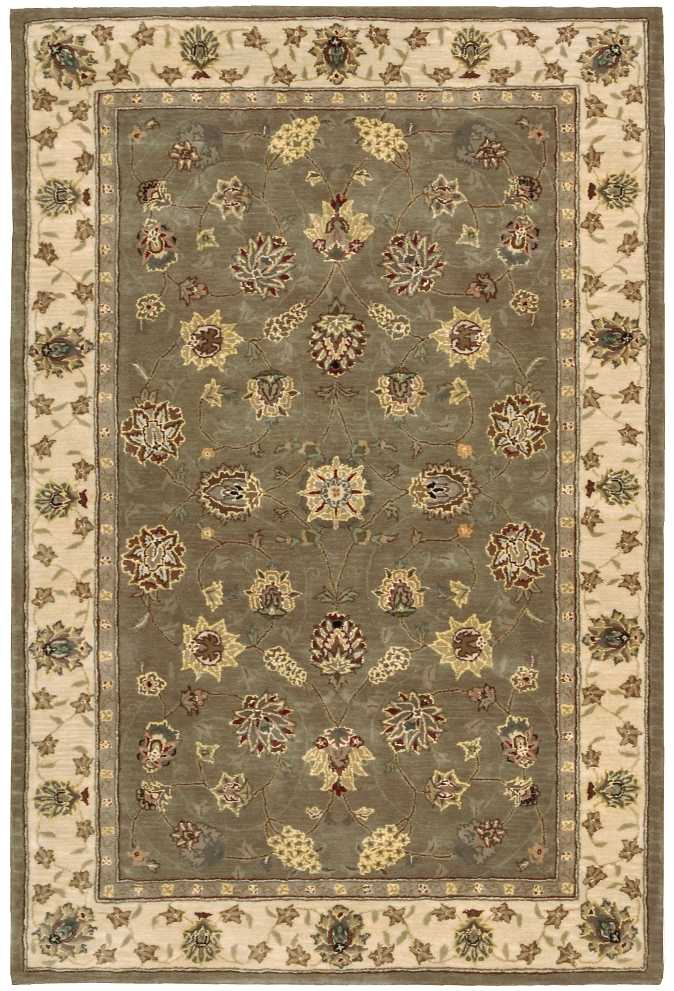 "Nourison 2000 Area Rug, Olive, 3'9"" x 5'9"". Picture 1"