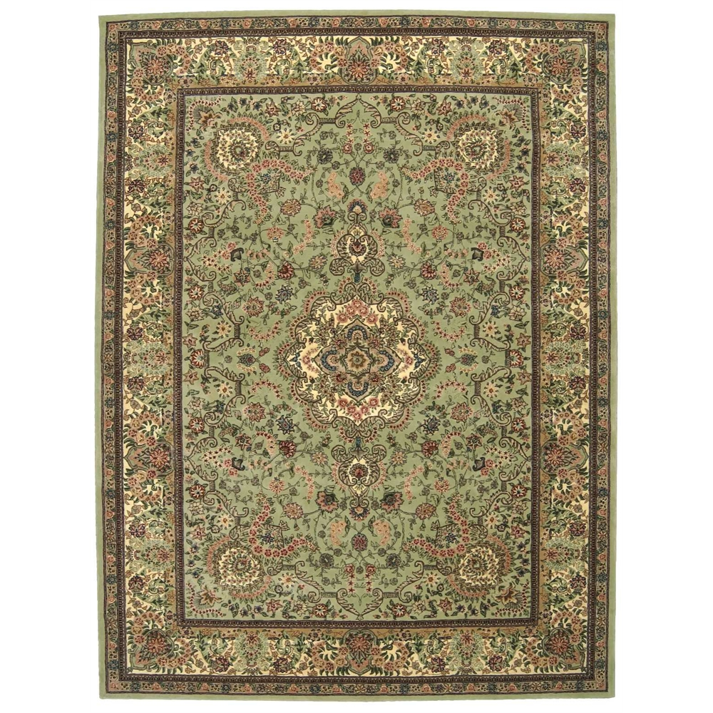 Nourison Nourison 2000 Light Green Area Rug. Picture 1