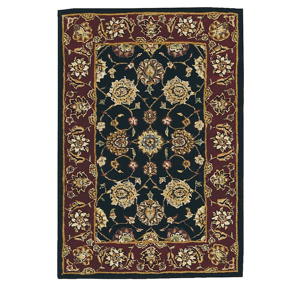 Nourison 2000 Area Rug, Black, 2' x 3'. Picture 1