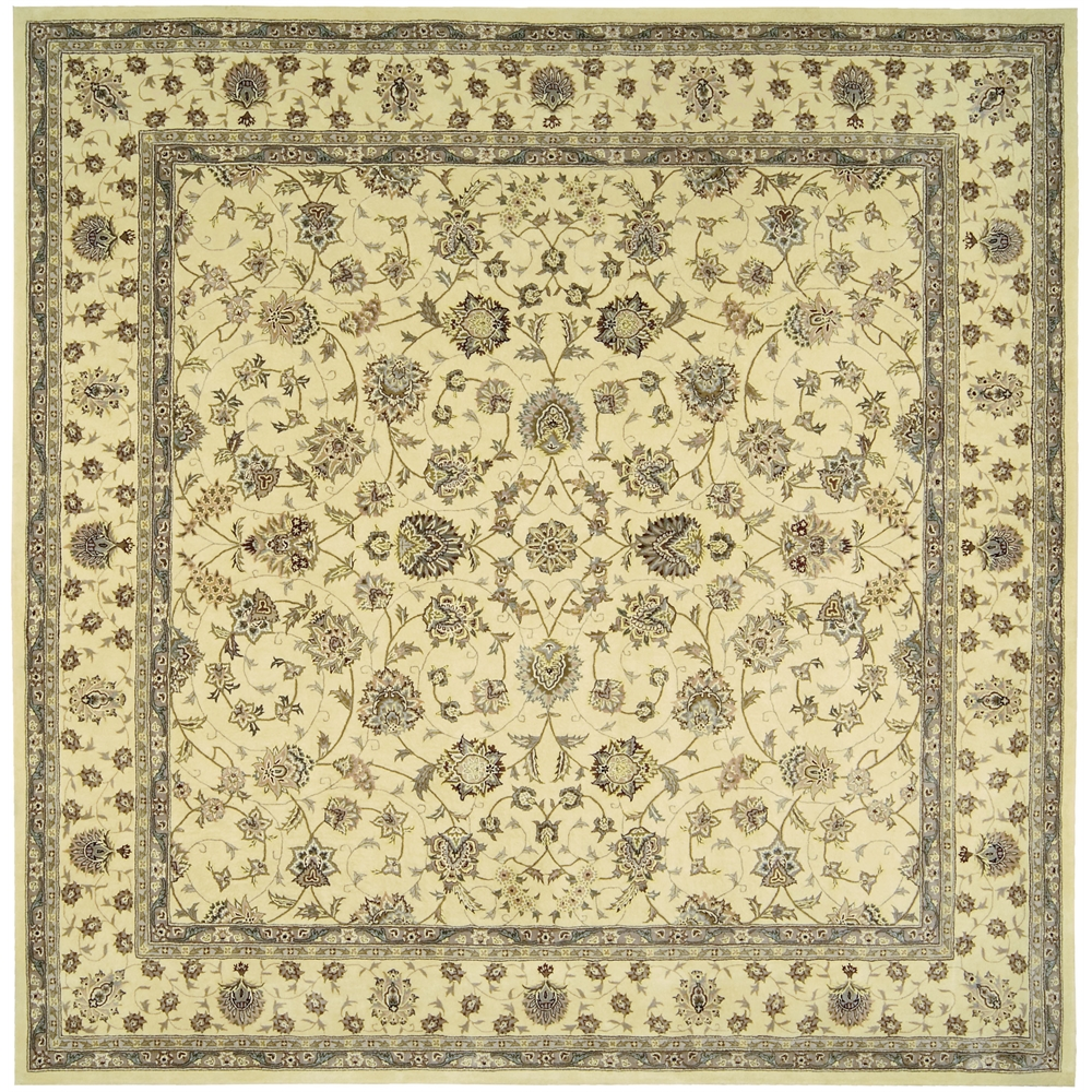 Nourison 2000 Area Rug, Ivory, 10' x OCTAGON. Picture 1