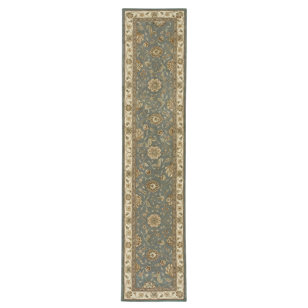 "Nourison 2000 Area Rug, Blue, 2'6"" x 12'. The main picture."