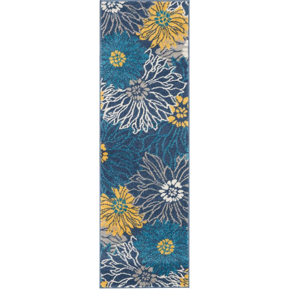 """Passion Area Rug, Blue, 1'10"""" x 6'. Picture 6"""