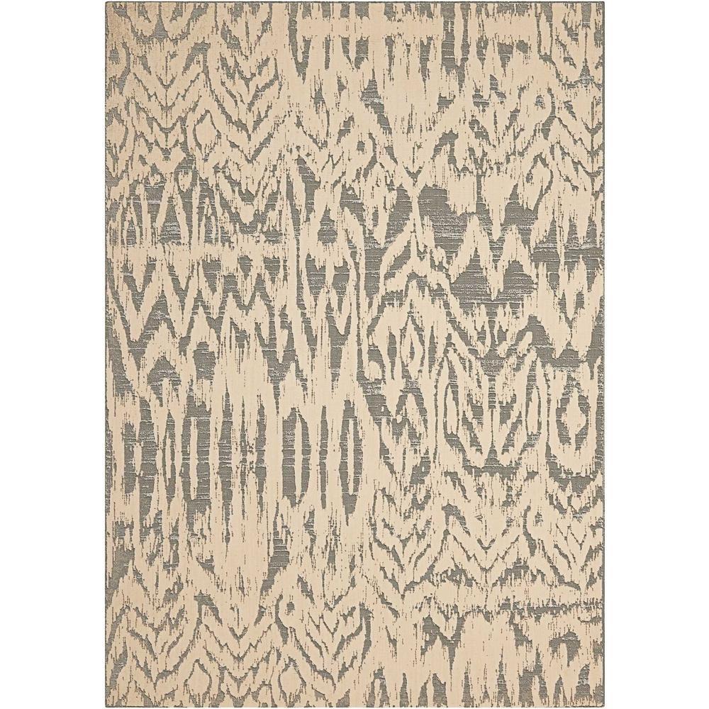 "Nepal Area Rug, Ivory/Grey, 9'6"" x 13'. Picture 1"