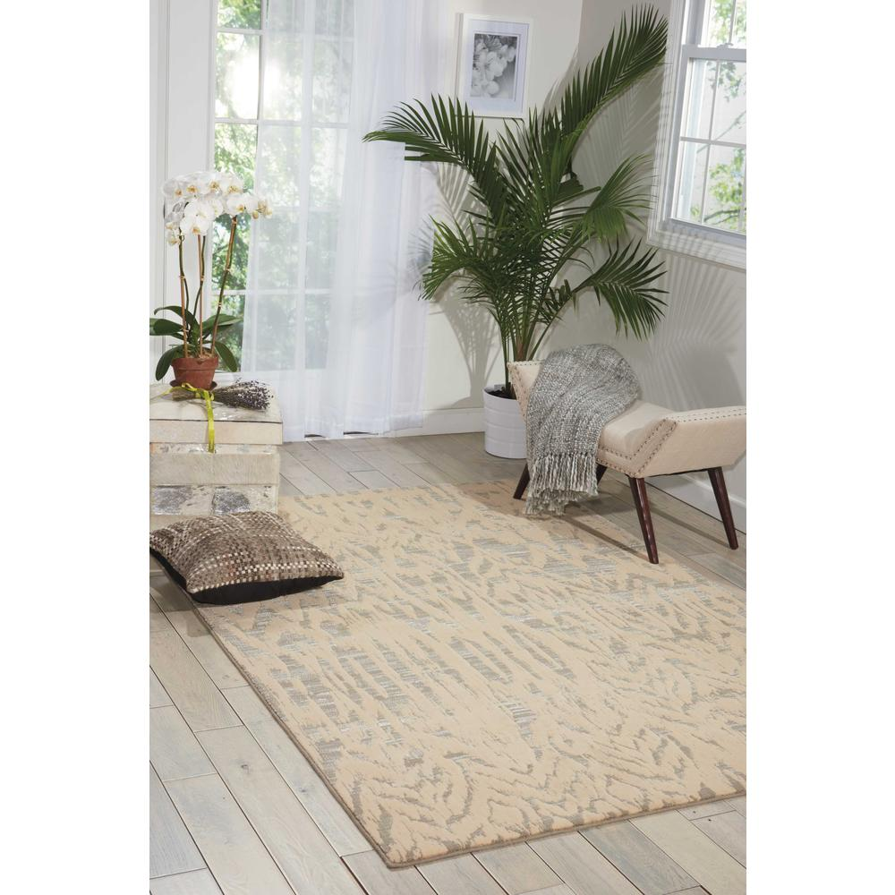 "Nepal Area Rug, Ivory/Grey, 9'6"" x 13'. Picture 4"