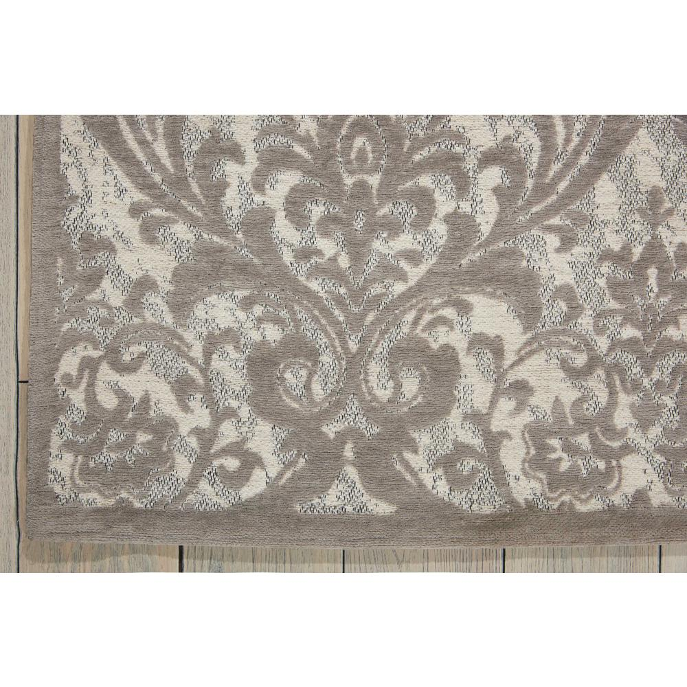 Damask Area Rug, Ivory/Grey, 5' x 7'. Picture 2