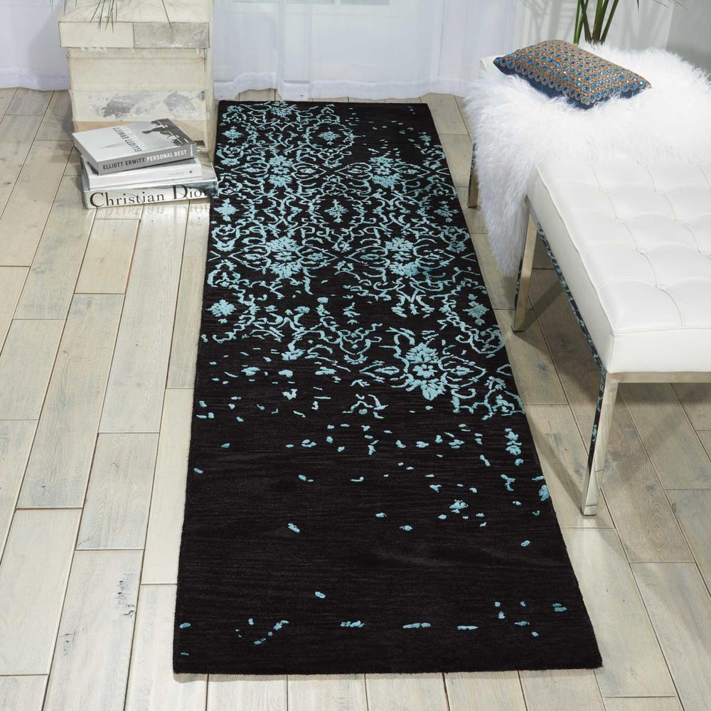"""Opaline Area Rug, Mmidnight Blue, 2'3"""" x 8'. Picture 4"""