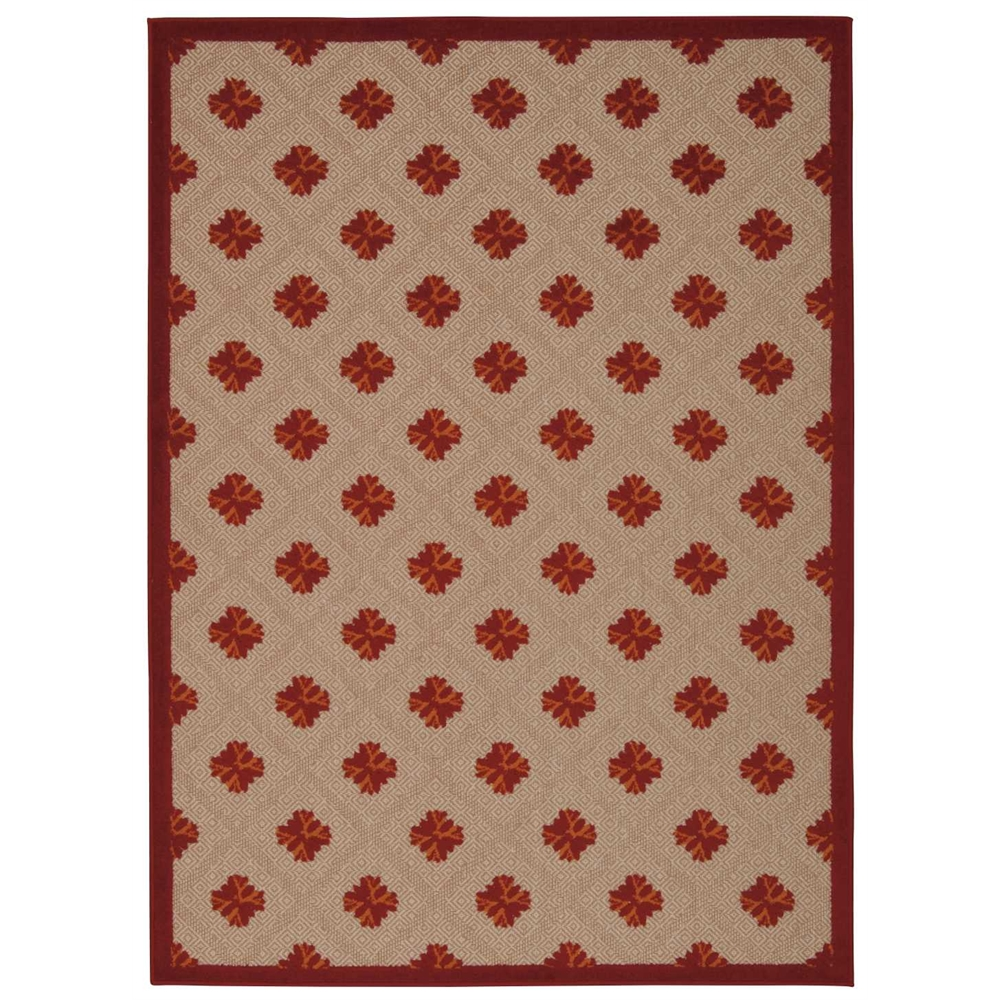 Nourison Aloha Red Indoor/Outdoor Area Rug. Picture 1