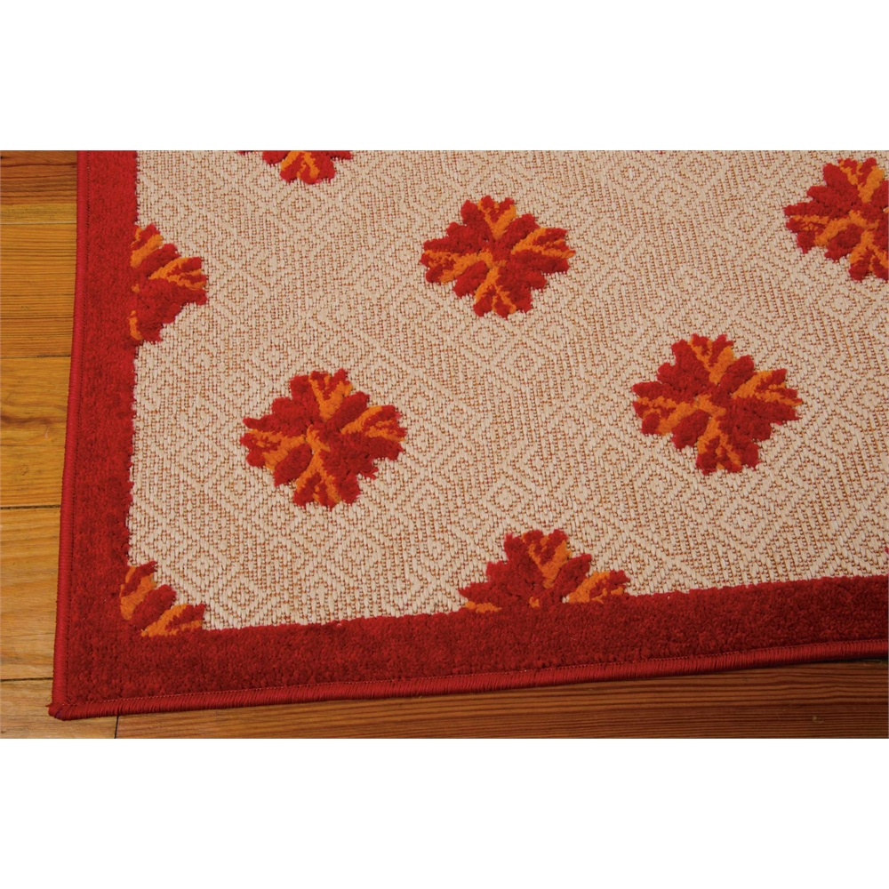 Nourison Aloha Red Indoor/Outdoor Area Rug. Picture 2
