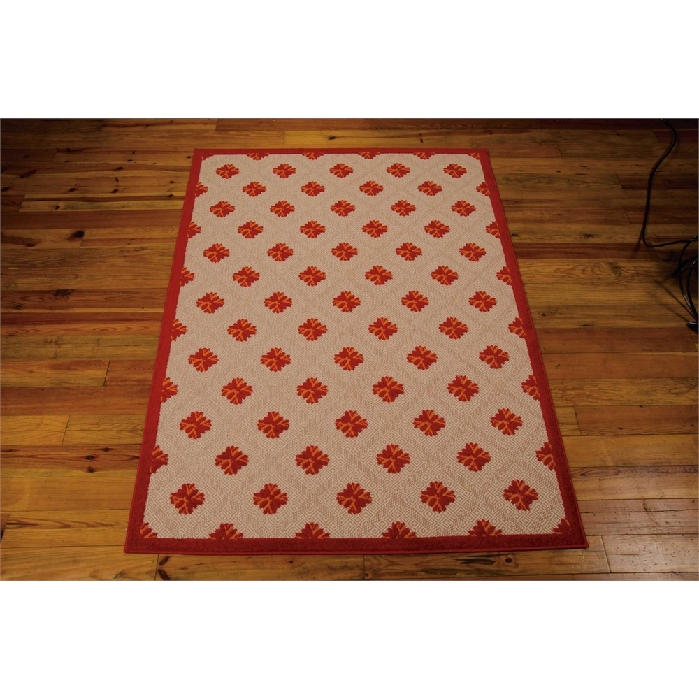 Nourison Aloha Red Indoor/Outdoor Area Rug. Picture 3