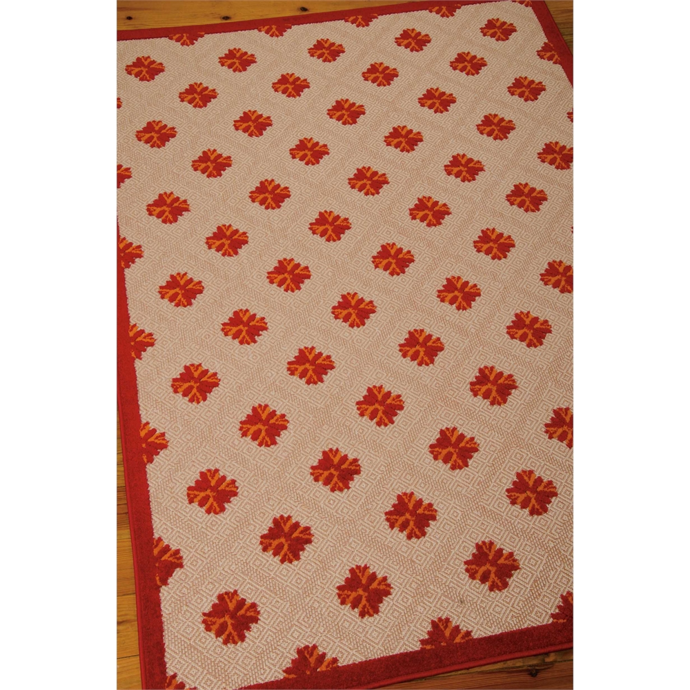 Nourison Aloha Red Indoor/Outdoor Area Rug. Picture 4
