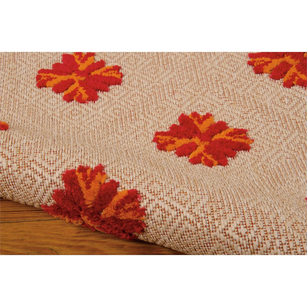 Nourison Aloha Red Indoor/Outdoor Area Rug. Picture 7