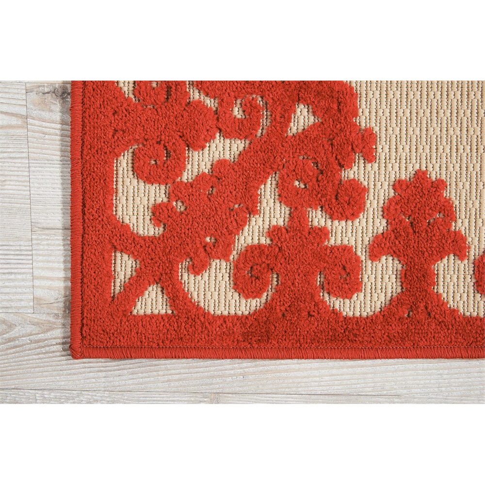 "Aloha Area Rug, Red, 2'8"" x 4'. Picture 2"