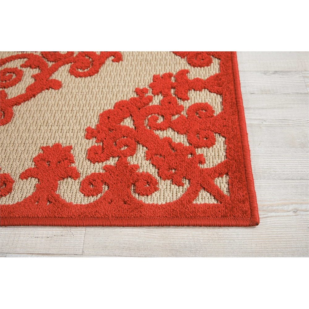 "Aloha Area Rug, Red, 2'8"" x 4'. Picture 3"