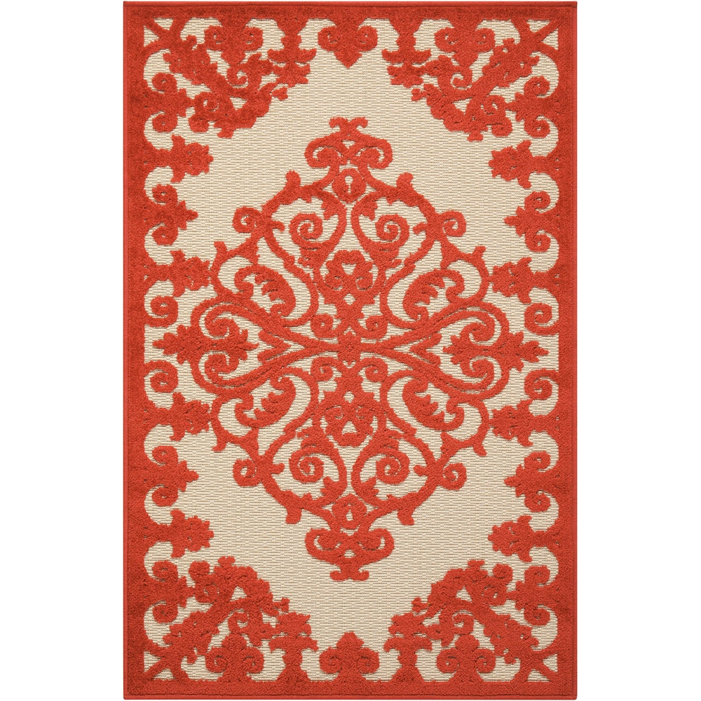 "Aloha Area Rug, Red, 2'8"" x 4'. Picture 1"
